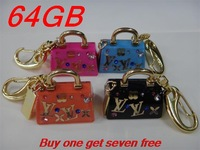 Buy 1 get 7 free Real capacity 64gb pen drive usb 2.0 Metal Handbag 64gb Memory card Stick usb flash drive 64GB U disk