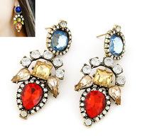 Geometric Rhinestone Drop Earrings Party Statement Earrings Fashion Jewelry Wholesale cxt94334