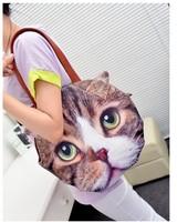 New Arrival 2014 Retro Cartoon Animals Bags Cat Handbag European and American Fashion Handbags Shoulder Bag 52085