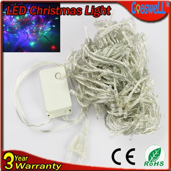 LED christmas tree lights 50M 400LEDs AC220V led string lights 28W 7colors RGB festive lighting free FEDEX(China (Mainland))