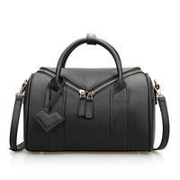 Leather handbags fashion 2014 new pillow B-oston portable diagonal female bags shoulder bag totes metallic color handbags