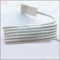 1M USB Cable 3ft white color ios7 8pin to USB 2.0 charger data Cable for iPhone 5 5s 5c iPod ipad mini [1000pcs/lot,LW]