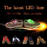 1Pair led nylon shoelaces luminous shoestring led belt light up shoe Flashing Disco Party Glow Laces led bandlet