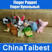 niños títere juguete mano paño de dibujos animados muñeca historia educativa de terciopelo 10 piezas(China (Mainland))