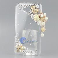 Pretty Love Heart Tower Crystal Case for LG Optimus G Pro Lite D686 Handmade Diamond Hard Back Cover Phone