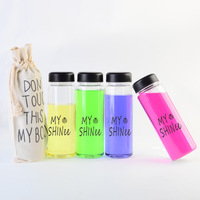 6pcs/lot Free shipping Today`s special plastic sports water my bottle with a gift bag bigbang/super junior/snsd/shinee/tvxq/exo