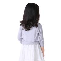 Hot Children Knitting Girl Coat wear with dresses #1411086 white/grey Autumn Girl Long Sleeves Tops Girl beautiful Blouse Autumn