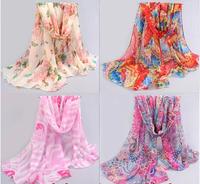2014 new fashion big butterfly Scarves women scarf long shawl Winter silk desigual scarf pashmina leopard chiffon hijab echarpes