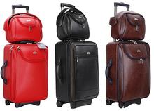 Pu valigia bagaglio donne & uomini borse da viaggio trolley valigie bagagli di rotolamento 2 pezzo '+ 10''  (China (Mainland))