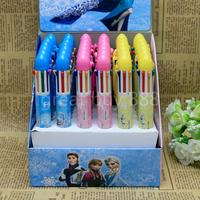 Wholesale ballpoint pens Frozen 8 color ball pen Cartoon Ball point pen office supplies pens 36 pcs/Box