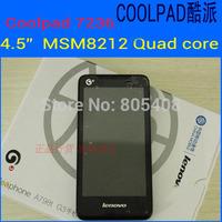 "Original Coolpad 7236 3G WCDMA Mobile Phone Quacomm MSM8212 Quad Core 4.5"" 854x480 512MB RAM 4GB ROM 3MP A-GPS Cheap Smart Phone"