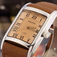 New Women Fashion quartz watches Rectangular dial Genuine Leather Lady's Wrist Watches KEZZI Brand Clock