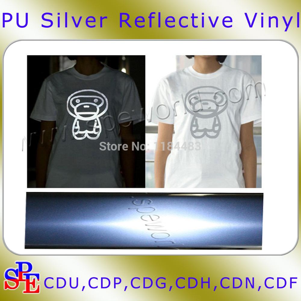 Free Shipping Reflective heat transfer vinyl (50cm widthx100cm length)(China (Mainland))