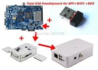 Original Banana Pi USB WIFI Adapter Raspberry pi b+  + Banana Pi A20 Board + white/black box  FREE Shipment