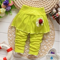 Free Shippiing 2014 New Autumn Baby Girls Cotton Romper Pants Flower Leggings Pants B111