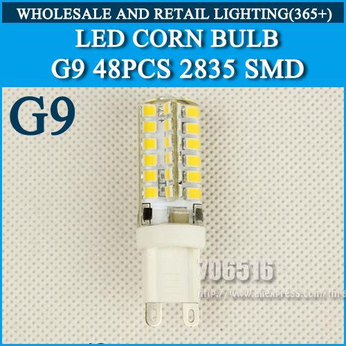 4PCS 48 LED G9 G4LED lamp 220V 230V240V 9W 10W LED Bulb 2835SMD 360 Beam Angle LED spot light warranty Free Shipping(China (Mainland))