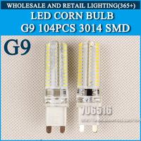 10PCS 64LED 96LED 104LED 3014SMD LED G9 LED lamp 220-240V Replace 100W halogen lamp 360 Beam Angle LED Bulb lamp