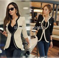 Drop Ship Blaser Feminino Rushed Regular 2014 New Fashion Women Slim Blazer Coat Casual Jackets One Button Suit OL Outerwear