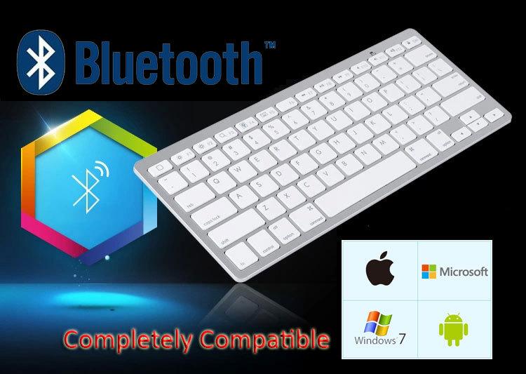 Новый Bluetooth 3.0 беспроводная клавиатура для пк компьютер ноутбук планше