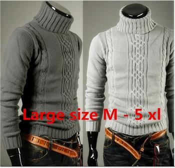 F0040 высокое качество свободного покроя свитер мужчин пуловеры марка весна осень вязание длинным рукавом v-образным вырезом трикотаж свитера Большой размер M-XXL