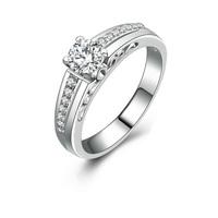 Designer 0.5 carat cheap cz diamond wedding rings woman Jewelry (MATE R122)