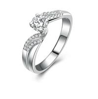 Beautiful Charm bride 0.5 carat cz diamond princess engagement ring styles (MATE R127)