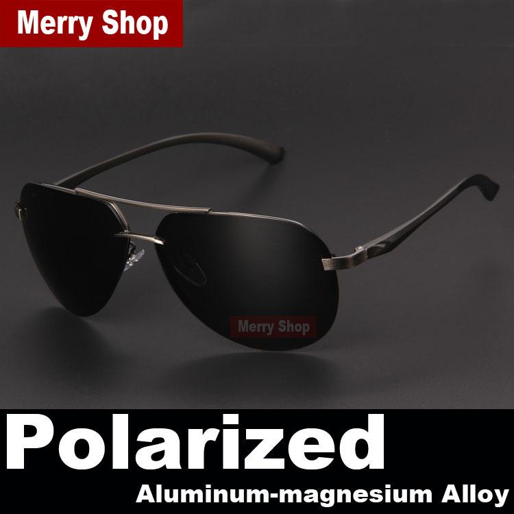 2015 New Brand Men 100 Polarized Aluminum Alloy Frame Sunglasses Fashion Men s Driving Sunglasses High
