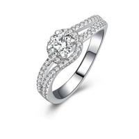 Unique design 0.5 carat cz diamond cushion Princess cut engagement rings (MATE R128)