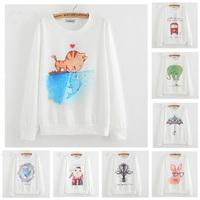 [ANNY] Hot clothing new design long sleeve thin hoodies good printed fashion casual cotton sweatshirt 21 models free shipping