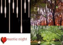 Christmas Wedding Garden Decoration 30CM Meteor Shower Rain Tubes LED Light 100-240V/EU Warm White B22 sv000016(China (Mainland))