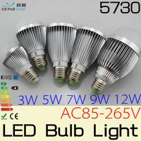 10x3W/5W/7W/9W E27 SMD5730 LED Globe Bulbs lamp light 85-265V ,globo de luz  levou lampada de led bulbo para casa ,Free shipping