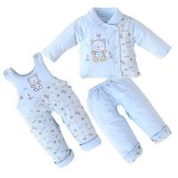 New 2014 winter warm Children's set clothing Baby girls boys fashion cartoon sets eiderdown cotton coats Jackets+pants+ Rompers
