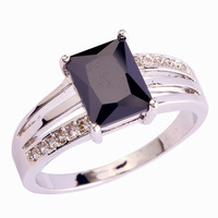 2015 Enjoyable Design Black Spinel 925 Silver Ring Measurement 6 7 eight 9 10 eleven 12 New Vogue Jewelry For girls Free Transport Wholesale