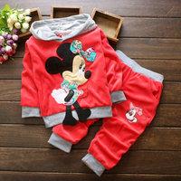 wholesale 4set/lot boy gril's clothes hoodies pants 2pcs set baby clothes ,minnie sets baby clothes