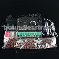 OPHIR30000RPM BlackNail Drill Kit Pedicure Manicure Set withBits+Degree Sanding Bands Nail Tools220V EU Plug#KD146BE+163+165-167