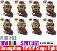 Cheap Price 8pcs/lot 10W RGBW Led Moving Head Beam Light Mini Size Led Moving Head Light DMX 512 Led Beam Light Led Party Light