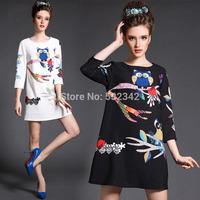 2014 spring women's plus size multi-flounced dress fashion trumpet sleeves autumn dress for ladies l,xl,2xl,3xl,4xl,5xl