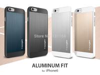 "Diamond Cut Aluminum Fit 4.7"" Case for iPhone 6, Spigen Aluminum Back Panel Anodized Metallic Coating Case for Apple iPhone 6"