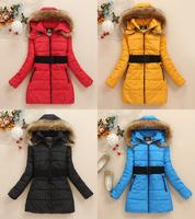 Free shipping 2014 winter new Korean Slim thick down jacket coat woman long sleeved velvet suit jacket padded jacket woman