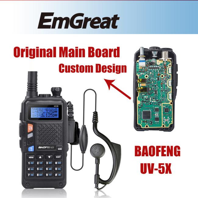 BAOFENG UV-5X Original Main Board 128CH UHF 136-174 VHF 400-520 Two Way Radio Walkie Talkie Baofeng UV-5R UV5R Upgraded Version(China (Mainland))