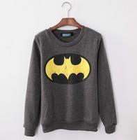 2015 New Autumn and winter new style  women cotton hoodies batman  fleece warm women's sweatshirts 6color 719B