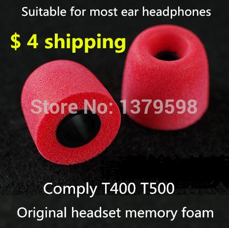 Free shipping Comply T-400 T500 isolation headphones Tips headset memory foam sponge earphone headphone sets(China (Mainland))