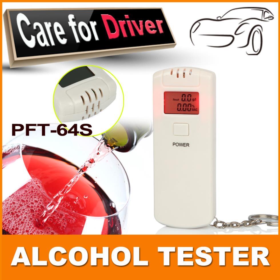 Wholesale 8Pieces White Car Gadget LED Digital Breathalyzer Alcohol Tester Alcohol Analyzer(China (Mainland))