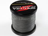 Hot sale PE Dyneema Braided Fishing Line 500M 40LB 0.32mm 547 Yard Spectra Braid Gray color # 4