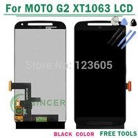 100% Original XT1063 LCD Screen For Motorola for MOTO G2 G+1 XT1063 XT1068 XT1069 LCD Display Touch Digitizer Assembly