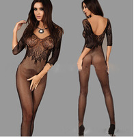 FREE SHIPPING Women's Bodystocking open crotch bodystocking Sexy Lingerie Bodysuit Costume