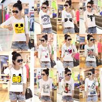 [No.24]Sales Promotion Women's long-sleeve t-shirt 2014 female cotton o-neck t shirt casual full sleeve basic shirt for women