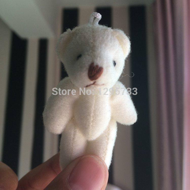 100piece/lot wholesale 6cm tinny Joint Bear Joint Bear Doll Cell Phone Pendant Cartoon Plush Stuffed Toy Doll(China (Mainland))