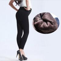 Fashion Sexy Black Pregnant  Warm Leggings Anti- Snagging Winter Bottoming Velvet Leggings