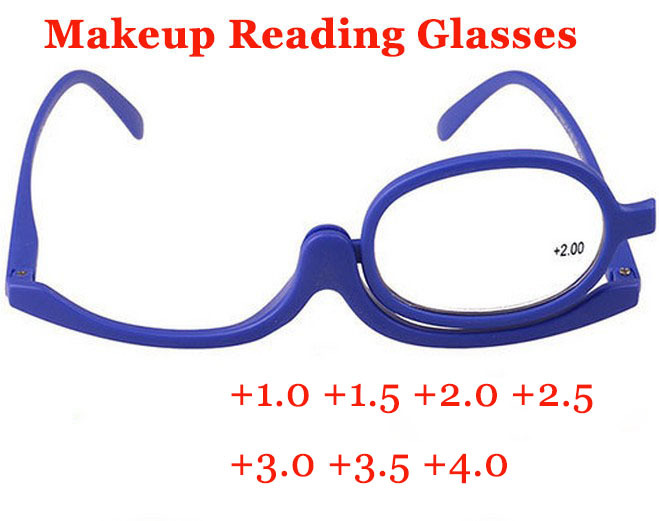 2014 Makeup Magnifying Glasses Degree of Women Folding Reading Cosmetic Glasses Eyeglasses for female Make up Eye free shipping(China (Mainland))